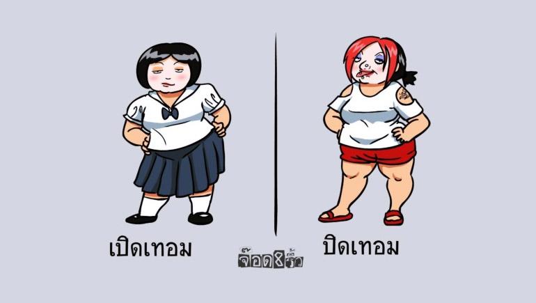 การ์ตูน สังคมไทย เรื่องจริง