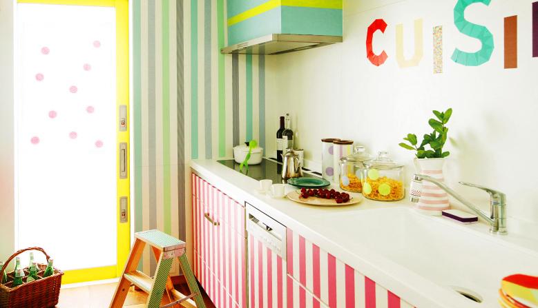 Idea แต่งบ้านด้วย เทปสีสวย