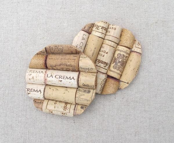 ที่รองจาน จากไม้ก๊อก Wine-Cork-Coasters
