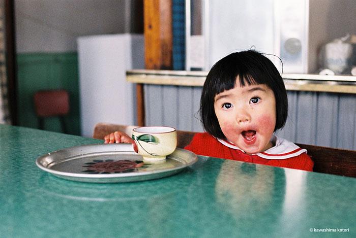 ชาวญี่ปุ่น ญี่ปุ่น มิรัยจัง เด็กน้อย แก้มแดง