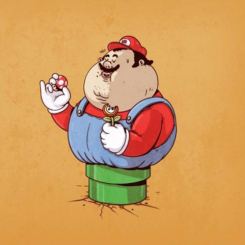 รวมภาพการ์ตูนซุปเปอร์ฮีโร่เวอร์ชั่นอ้วนกลม