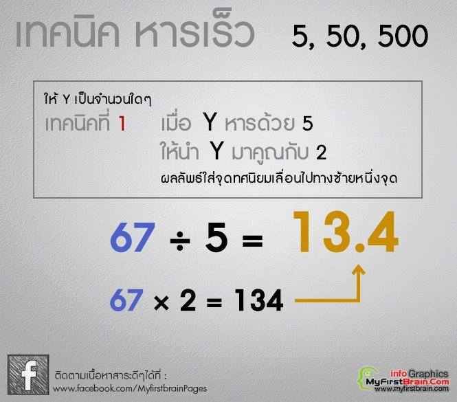 รวมสูตรคิดเลขเร็ว (2)