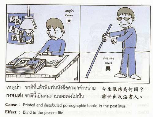 ชาติที่แล้วพิมพ์หนังสือลามกจำหน่าย ชาตินี้เป็นคนตาบอดมองไม่เห็น