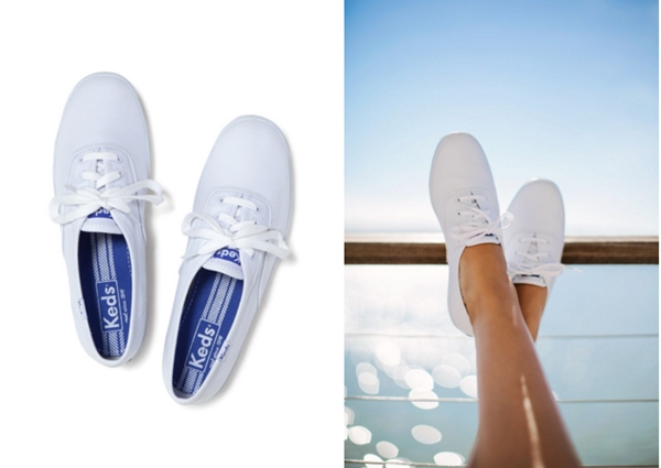 10.Keds : Champion White Canvas