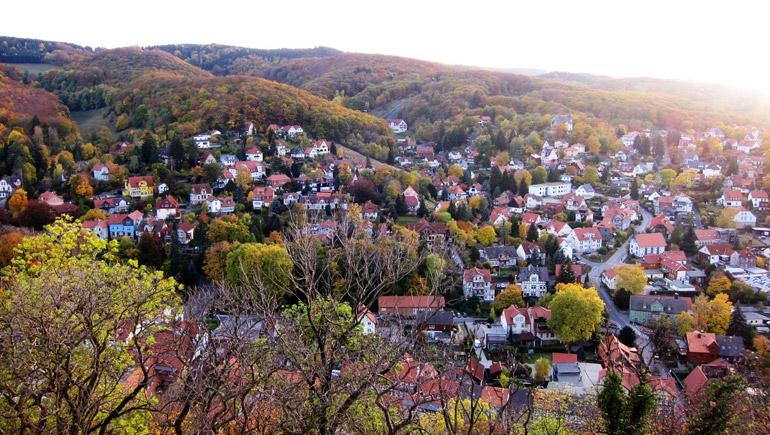 autumn germany ท่องเที่ยว ปราสาท เควดลินบวร์ก เยอรมนี ใบไม้ร่วง ใบไม้เปลี่ยนสี