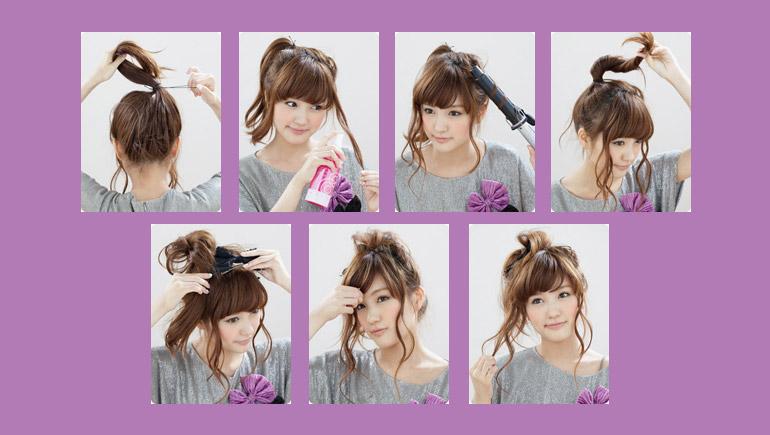 ทรงผม ทรงผมน่ารักๆ น่ารักๆ วิธีทำผม วิธีทำผมน่ารักๆ สาวญี่ปุ่น สไตล์ แฟชั่น แฟชั่นทรงผม
