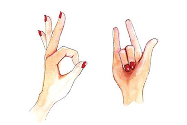 ภาษา ภาษากาย ภาษามือ มือ สัญลักษณ์
