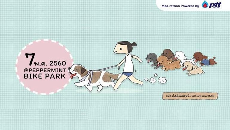 กิจกรรม คนรักหมา บันลือกรุ๊ป ปตท วิ่ง หมา