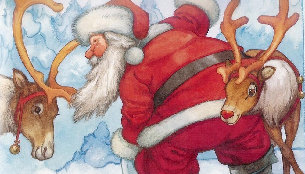 กวาง กวางเรนเดียร์ ซานตาคลอส วันคริสต์มาส