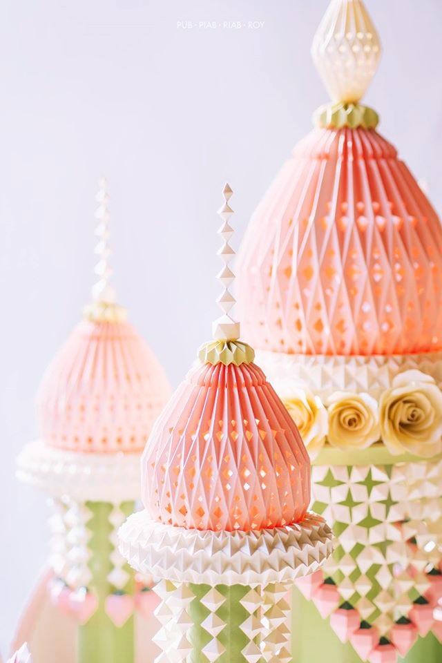 สวยมาก! พานไหว้ครูกระดาษ (งาน Papercraft ดอกไม้สดไทย) (17)