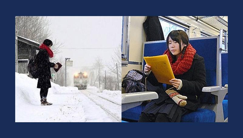 ข่าวต่างประเทศ ญี่ปุ่น นักเรียน รถไฟ สถานีรถไฟ ฮอกไกโด