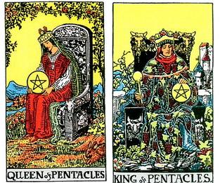 Queen of Pentacles ,King Of Pentacles