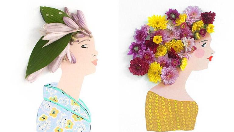 ดอกไม้ ผู้หญิง ศิลปะ