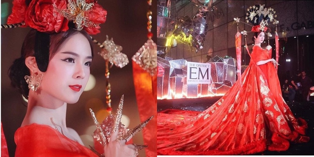 ควันหลงตรุษจีน ขอเก็บภาพสาว 'แพตตี้ อังศุมาลิน' ในชุดเทพธิดาองที่สามในงานอวยพรตรุษจีน ชุดอลังการสุดๆ