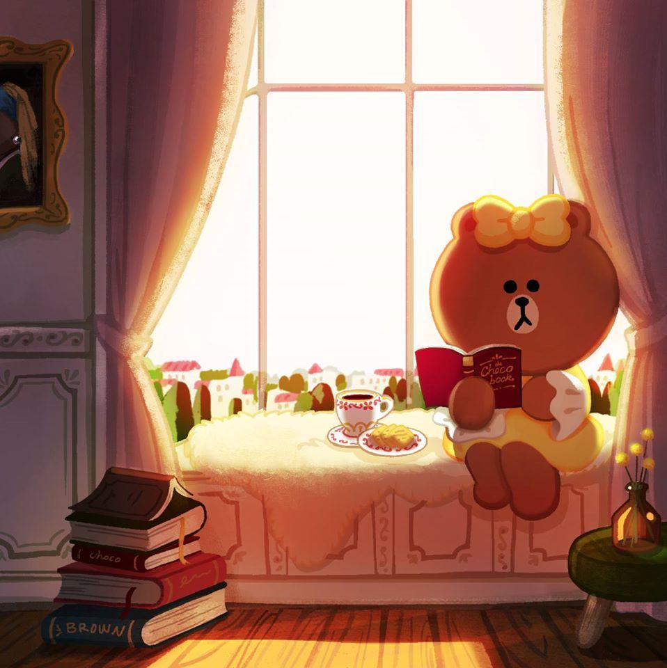 น่ารักจัง! Choco น้องสาวพี่หมี Brown คาแรคเตอร์ใหม่จาก LINE (1)