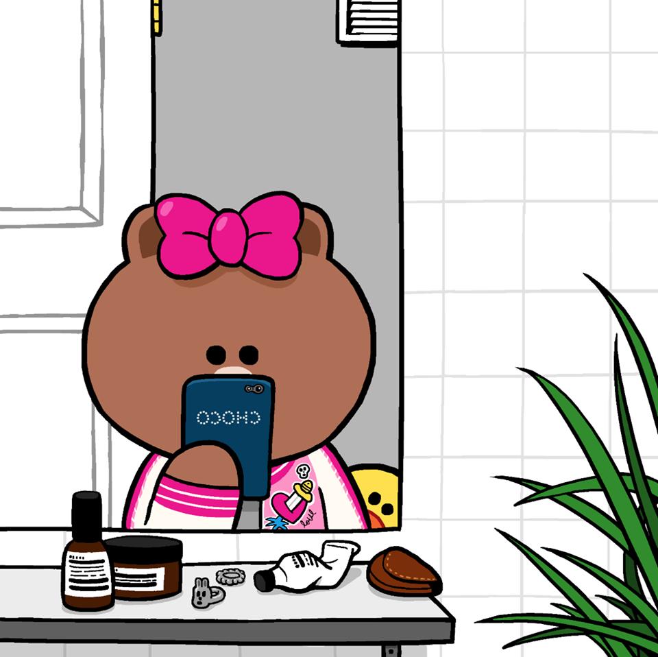 น่ารักจัง! Choco น้องสาวพี่หมี Brown คาแรคเตอร์ใหม่จาก LINE (2)