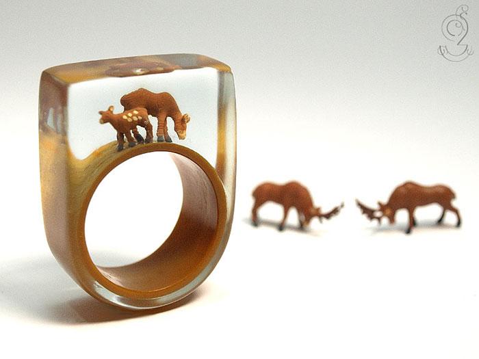 ฟรุ้งฟริ้งน่ารักมาก! โลกใบเล็กๆ ในแหวน โดยศิลปินเยอรมัน (1)