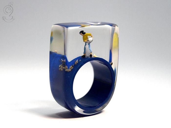 ฟรุ้งฟริ้งน่ารักมาก! โลกใบเล็กๆ ในแหวน โดยศิลปินเยอรมัน (4)