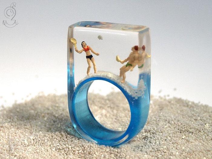 ฟรุ้งฟริ้งน่ารักมาก! โลกใบเล็กๆ ในแหวน โดยศิลปินเยอรมัน (6)