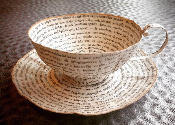 สวยงาม!แก้วน้ำชาจากหนังสือเก่า ไอเดียของศิลปินสาวสวีเดน (14)