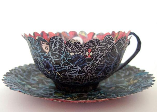 สวยงาม!แก้วน้ำชาจากหนังสือเก่า ไอเดียของศิลปินสาวสวีเดน (7)
