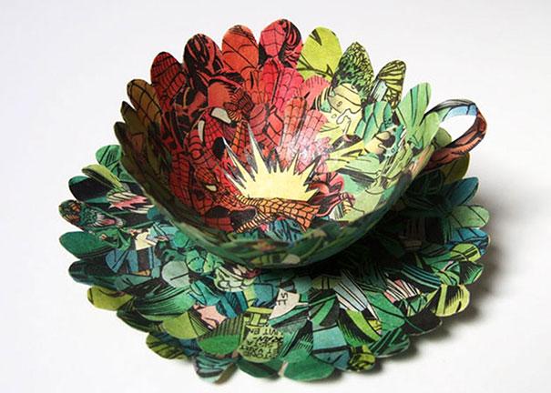 สวยงาม!แก้วน้ำชาจากหนังสือเก่า ไอเดียของศิลปินสาวสวีเดน (9)