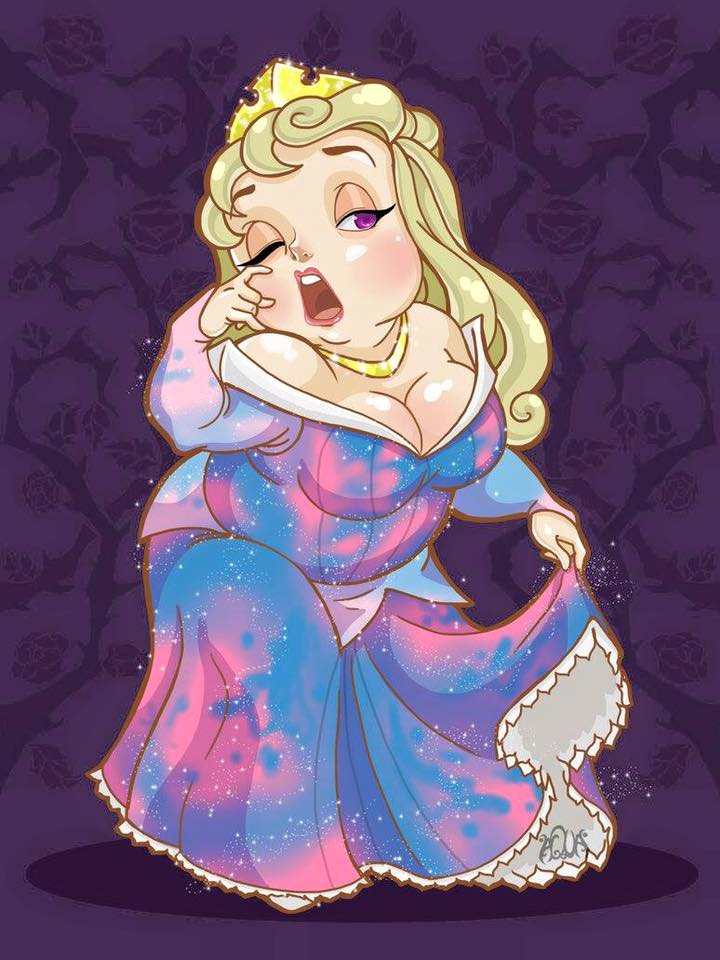 เจ้าหญิงดิสนีย์เวอร์ชั่นตุ้ยนุ้ย ตัวกลม แก้มเด้ง น่ารักอะ!! (2)