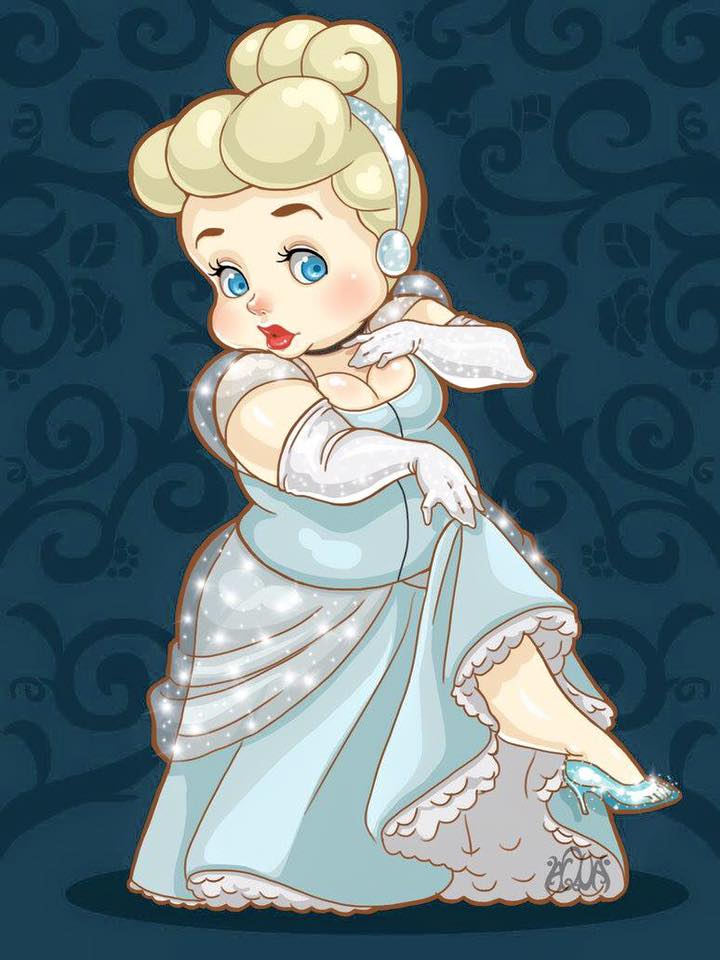 เจ้าหญิงดิสนีย์เวอร์ชั่นตุ้ยนุ้ย ตัวกลม แก้มเด้ง น่ารักอะ!! (3)