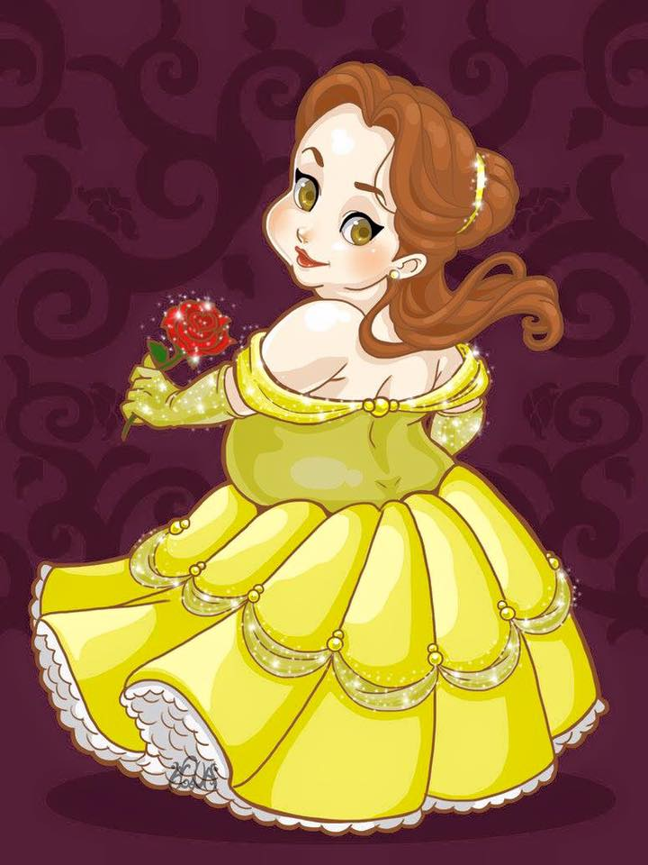 เจ้าหญิงดิสนีย์เวอร์ชั่นตุ้ยนุ้ย ตัวกลม แก้มเด้ง น่ารักอะ!! (5)