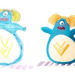 ภาพวาดสัตว์ประหลาดของเด็กๆ เมื่อถูกวาดใหม่โดยศิลปินมืออาชีพ