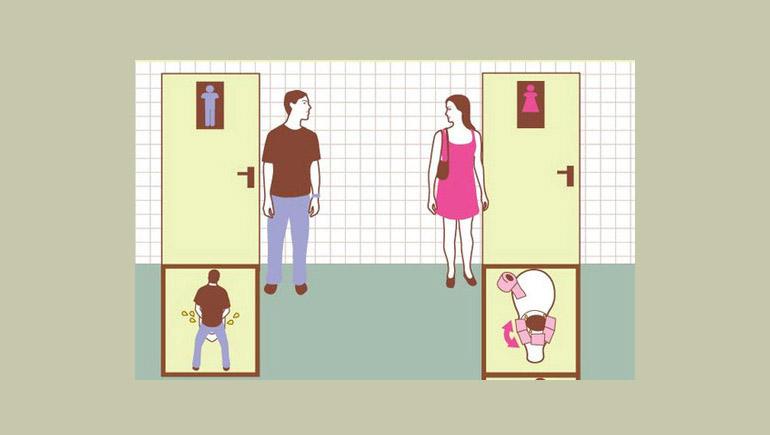 ความแตกต่าง ผู้หญิง ห้องน้ำ