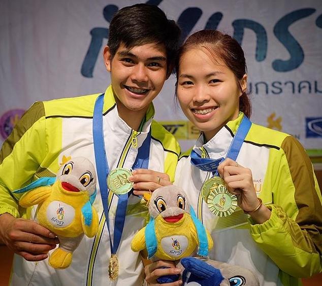 รวมภาพความหวาน ตะวัน น้องเมย์ คู่รักนักกีฬาวัยใส (2)