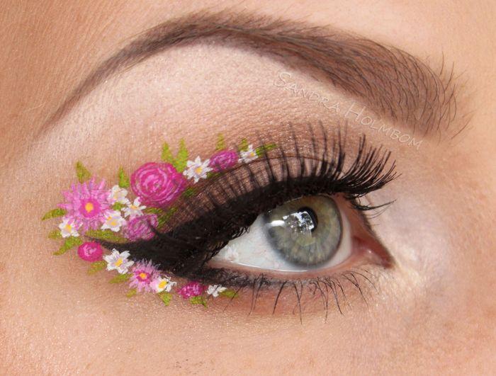 ไอเดีย! แต่งตาลายดอกไม้ ต้อนรับสงกรานต์ น่ารักฟรุ้งฟริ้งมาก (1)