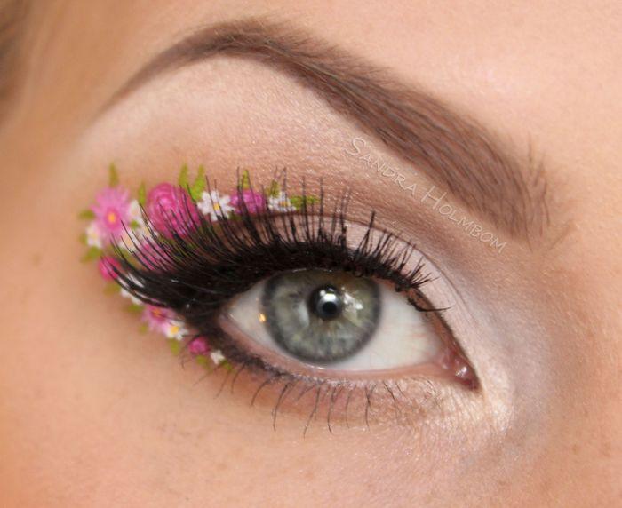 ไอเดีย! แต่งตาลายดอกไม้ ต้อนรับสงกรานต์ น่ารักฟรุ้งฟริ้งมาก (4)