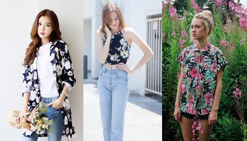 fashion สงกรานต์ เสื้อผ้าลายดอก แฟชั่นแต่งตัว