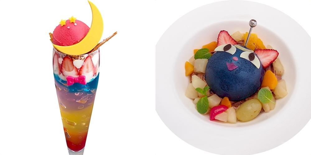 น่าไปชิมจัง เมนูอาหารคอนเซปท์เซเลอร์มูน ใน Chibiusa Cafe นิทรรศการเซเลอร์มูนที่ Roppongi Hills โตเกียว ประเทศญี่ปุ่น