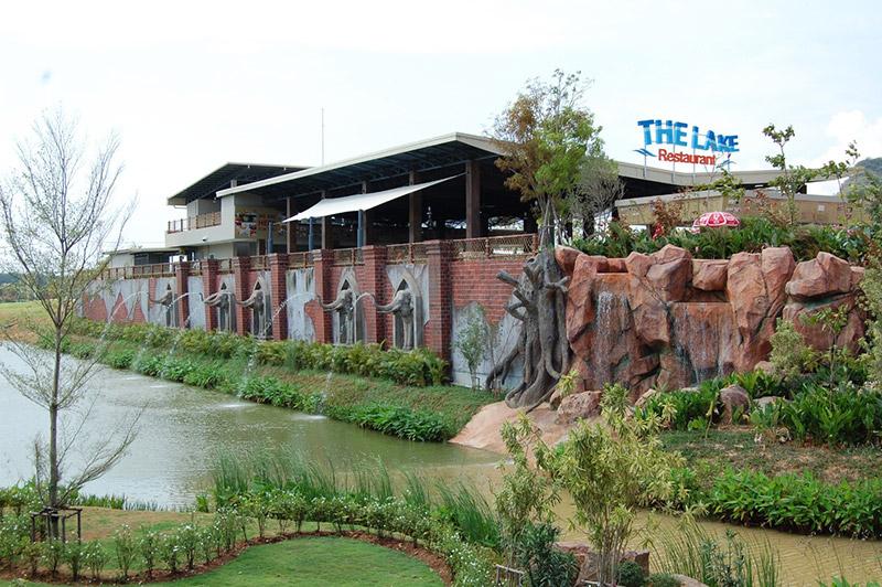 สวนน้ำรามายณะ-Lake-restaurant