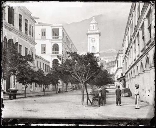 ภาพถนน Pedder Street ในอดีตของฮ่องกง