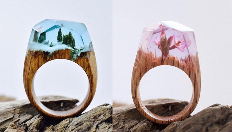 ศิลปะ เครื่องประดับ แหวน แหวนไม้ ไอเดีย