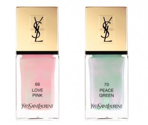 YVES SAINT LAURENT SMALTI LOVE PINK E PEACE GREEN