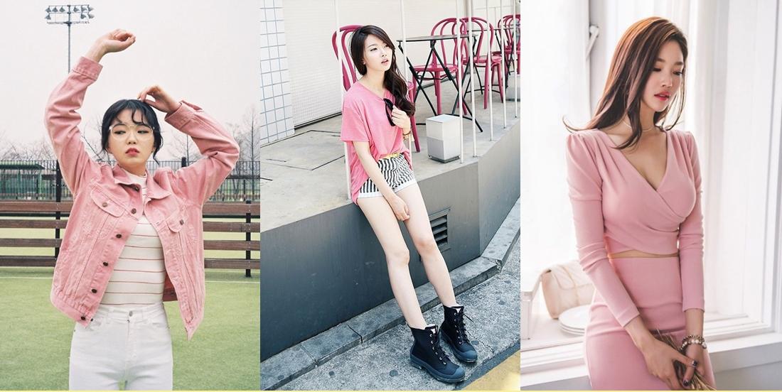 fashion korean pink แฟชั่นสีชมพู แฟชั่นเกาหลี
