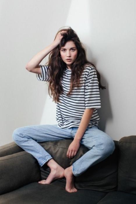 แฟชั่น เสื้อยืด กางเกงยีนส์ (17)