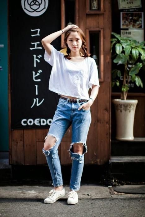 แฟชั่น เสื้อยืด กางเกงยีนส์ (2)