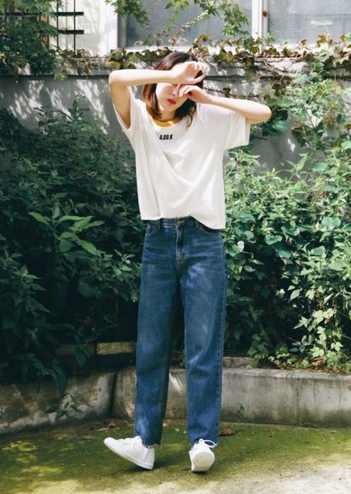 แฟชั่น เสื้อยืด กางเกงยีนส์ (26)