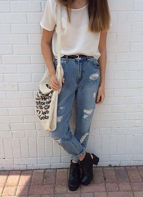แฟชั่น เสื้อยืด กางเกงยีนส์ (28)