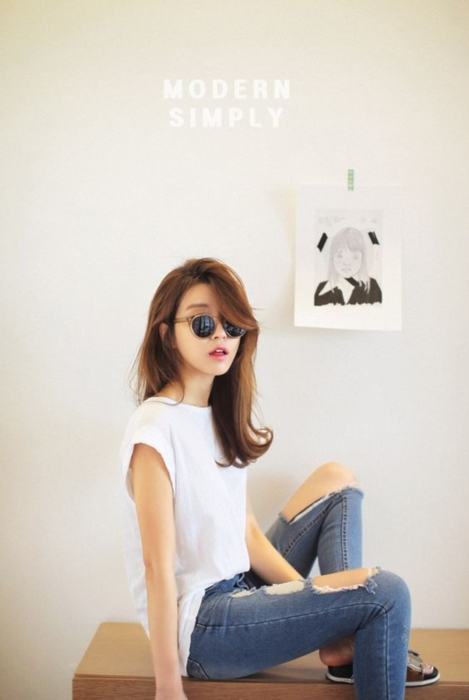 แฟชั่น เสื้อยืด กางเกงยีนส์ (39)