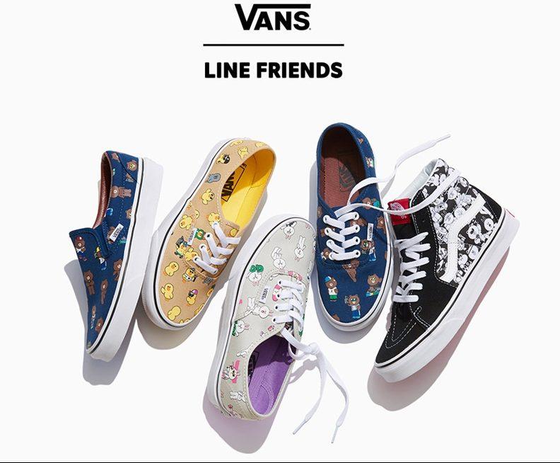 Shoe Sneakers VAN LINE FRIENDS vans รองเท้า รองเท้าผ้าใบ