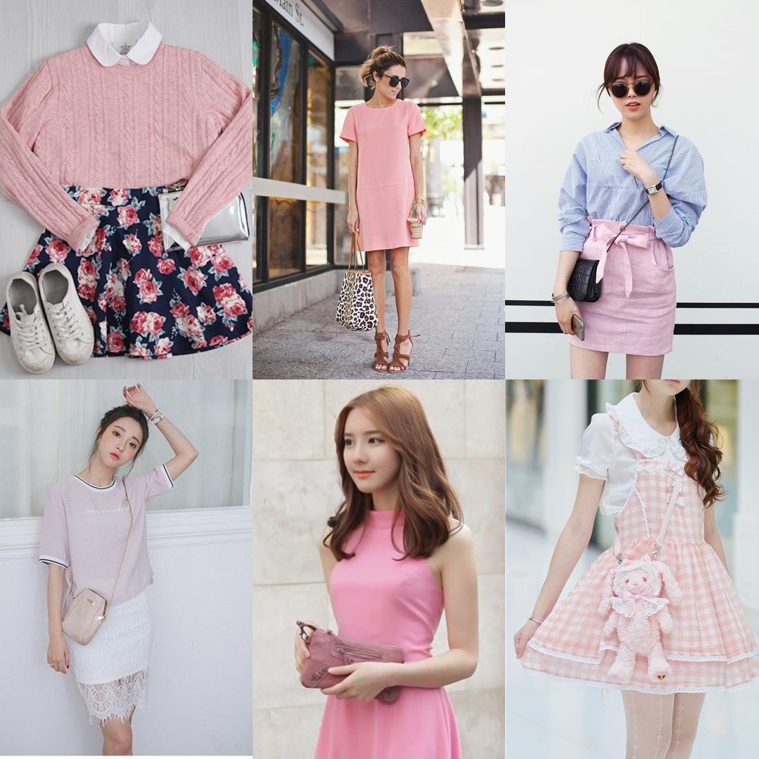 pink korean fashion