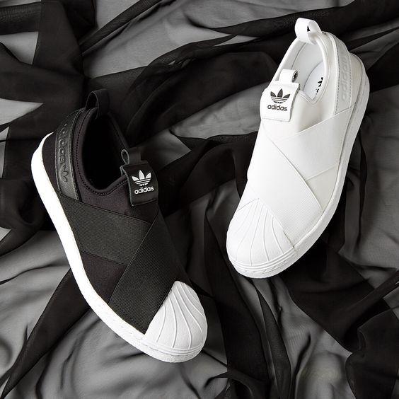 Adidas Superstar Slip On รองเท้าผ้าใบสไตล์มินิมอล (13)