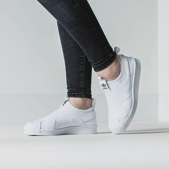 Adidas Superstar Slip On รองเท้าผ้าใบสไตล์มินิมอล (14)